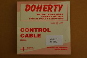 40-8057  60-0962 Cable, throttle, Doherty, UK make